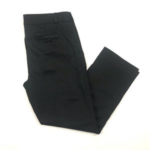 Banana Republic Solid Black Cropped Hampton Pants